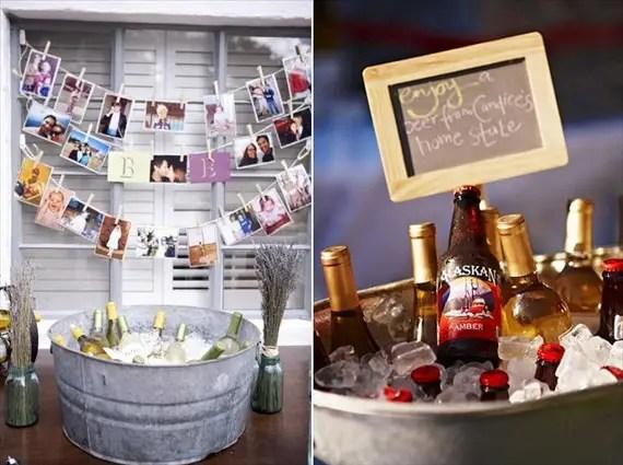 galvanized tub drinks wedding