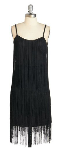 gatsby dress black fringe