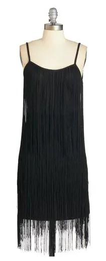 gatsby dress black fringe