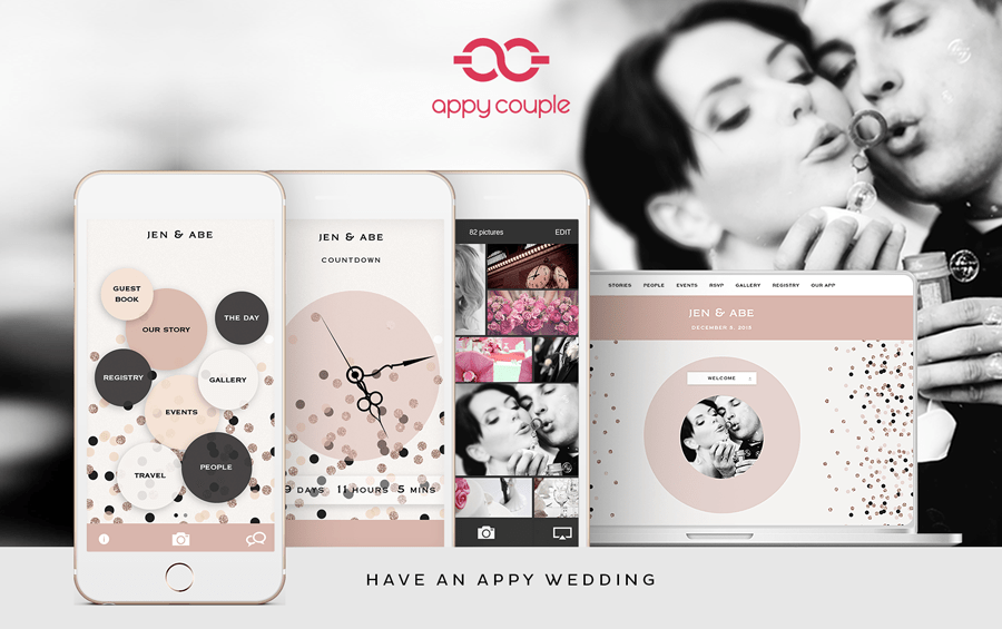 appy couple - wedding website app