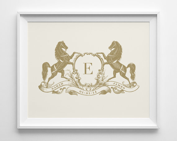 gold and ivory anniversary print via 27 Amazing Anniversary Gifts by Year http://emmalinebride.com/gifts/anniversary-gifts-by-year/