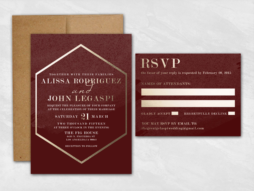 Email RSVP for Wedding Invitations