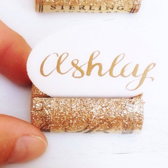 Glitter Place Card Holders — #HANDMADEADAY