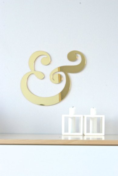 gold mirror ampersand