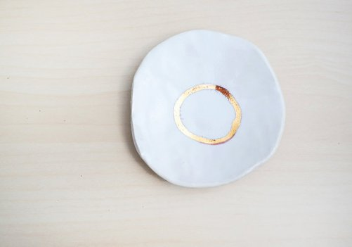 gold ring dish by stuck in the mud pottery