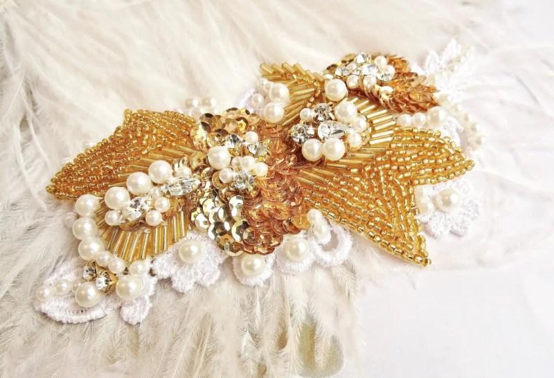 gold sequin bridal hair piece   via http://emmalinebride.com/bride/what-to-wear-instead-of-veil/ - What to Wear Instead of Veil