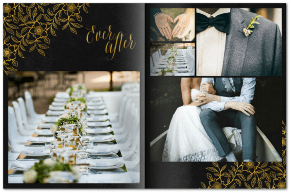 Photo Albums Weddings | by Mixbook | http://emmalinebride.com/planning/photo-album-weddings/