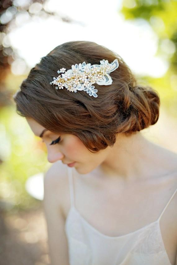 gorgeous hair clip for bridal veil alternative   8 Alternative Wedding Veil Ideas from Tessa Kim