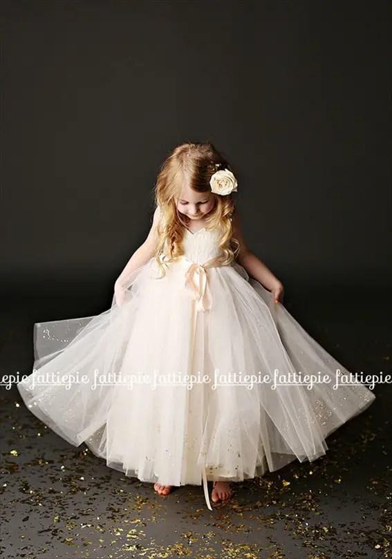 grace flower girl dress (by Fattie Pie) - formal flower girl dresses #wedding