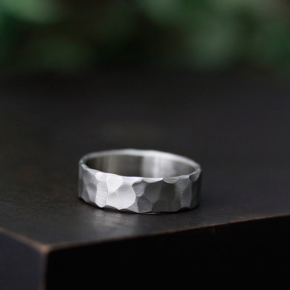 hammered handmade wedding ring | handmade wedding bands | http://emmalinebride.com/jewelry/handmade-wedding-bands/