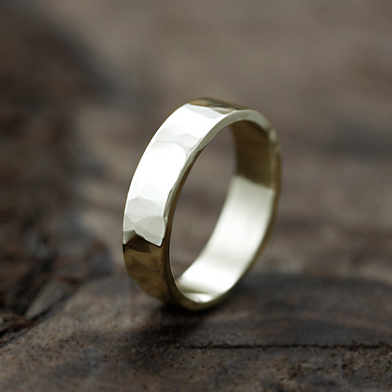 handmade eco friendly wedding band | handmade wedding bands | http://emmalinebride.com/jewelry/handmade-wedding-bands/