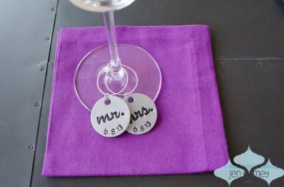 handmade wedding charms for wine glasses