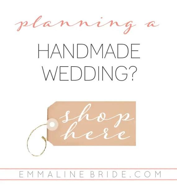 handmade wedding shop | EmmalineBride.com