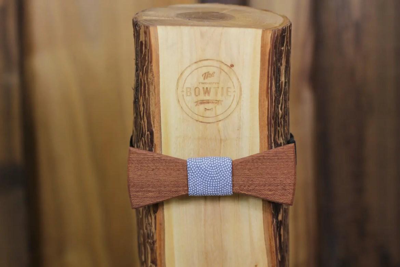 handmade wedding wooden bow tie