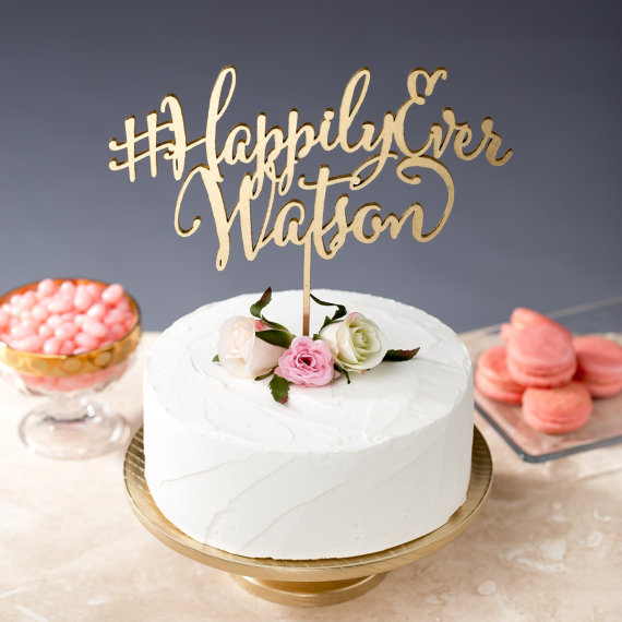 hashtag cake topper 2