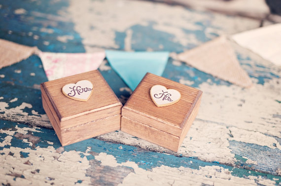his and hers ring boxes