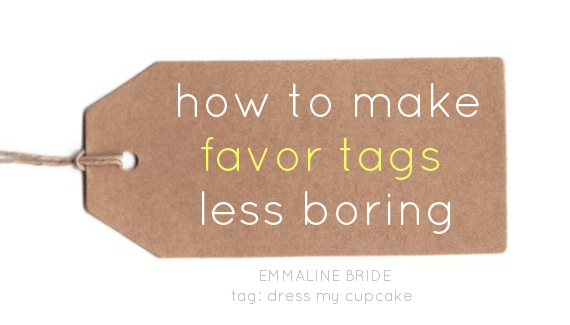 how to make favor tags less boring