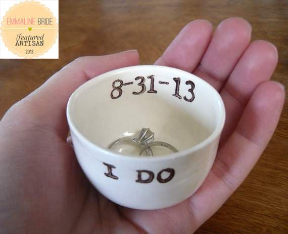 Creative Ring Holders (I Do Ring Bowl by Elycia Camille)