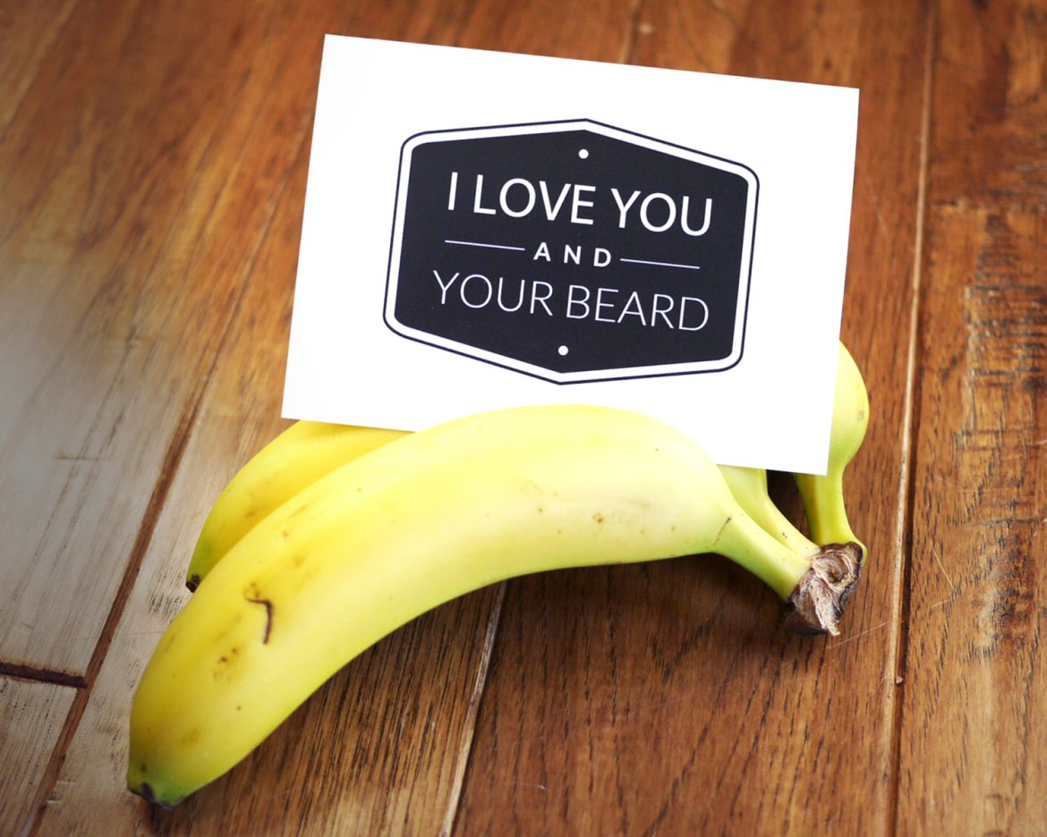 i love you and your beard - via funny valentine cards etsy from EmmalineBride.com