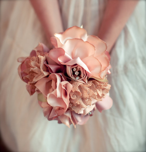 Vintage Wedding Bouquets (+ Accessories) by Autumn and Grace Bridal via EmmalineBride.com