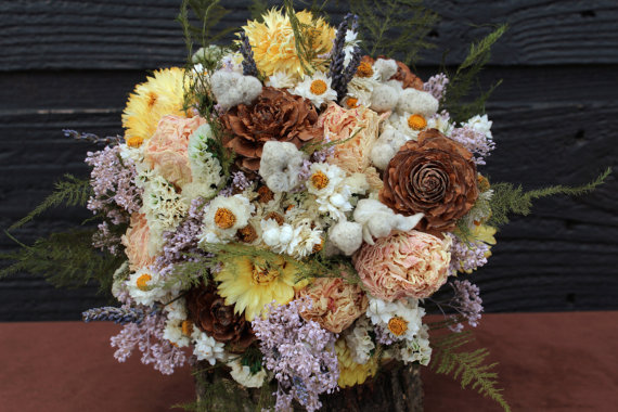 Themed Wedding Bouquets - Rustic Wedding Bouquet