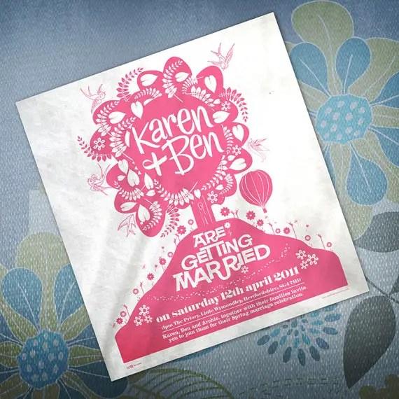 invitation tea towels