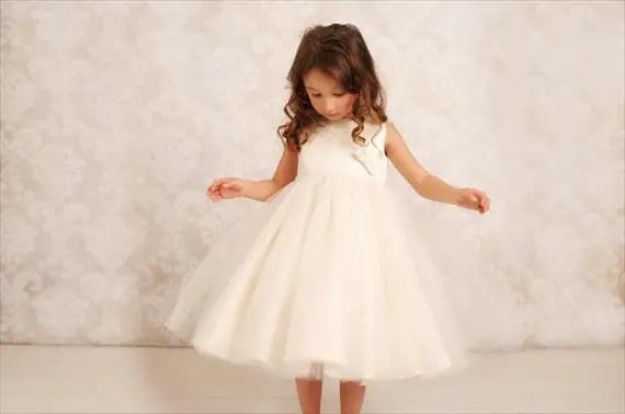 Ivory Flower Girl Dresses From Etsy