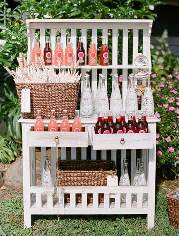 Wedding Drink Station Ideas - izze