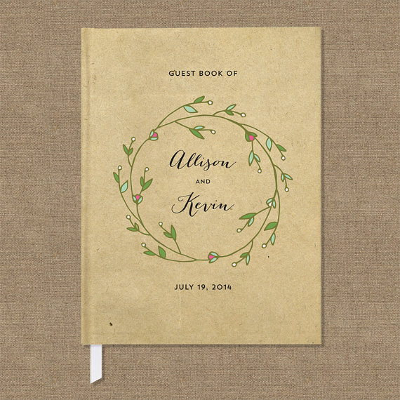 Wedding Guest Book - by Crafty Pie Press - kraft