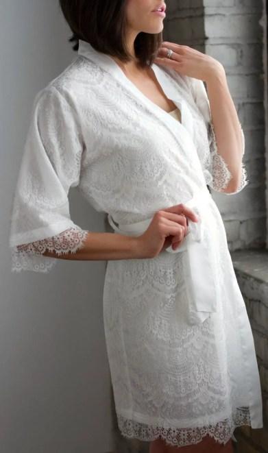 lace bridal robe - 3