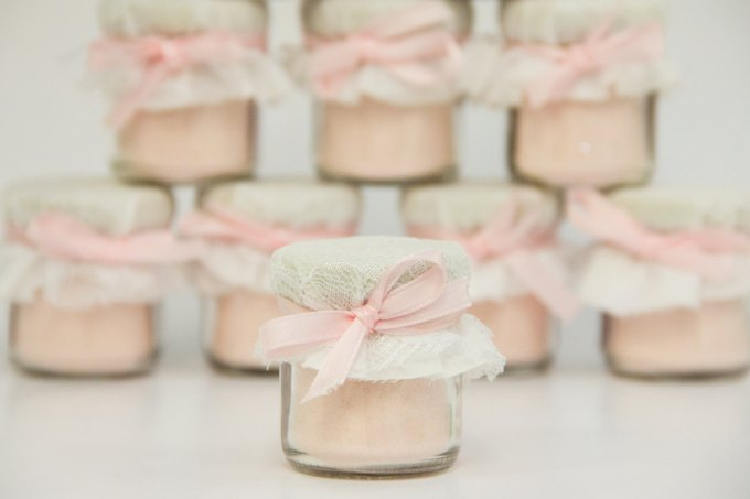 lace favor jars by customlovegifts - lace accessories weddings