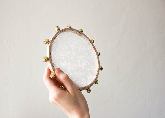 lace tambourine for the flower girl