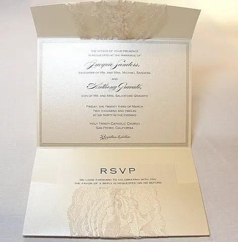Real Lace Wedding Invitations – Wedding Invites Lace