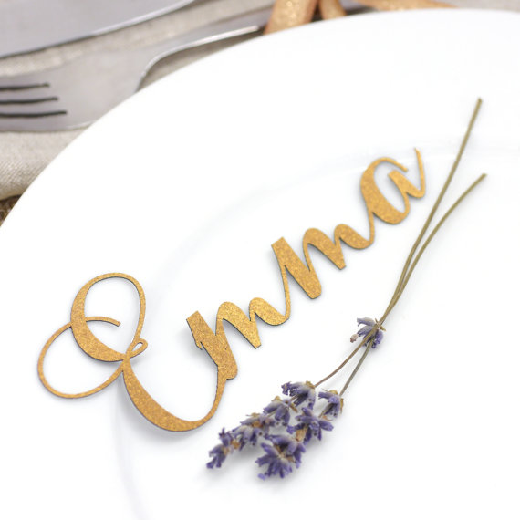 laser cut place card name - left