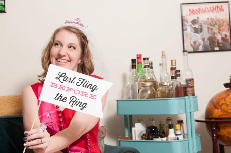last fling before the ring bachelorette party prop by Liddabits | fun bachelorette party ideas | http://emmalinebride.com/planning/fun-bachelorette-party-ideas/
