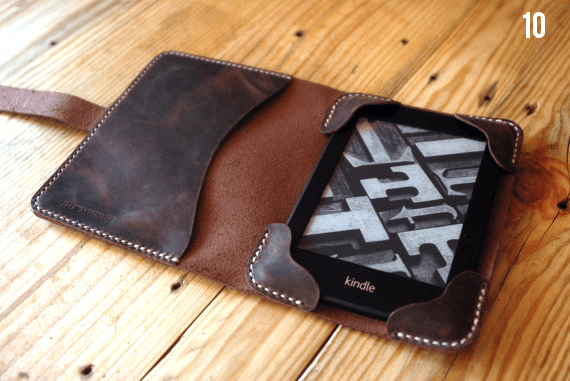 Gifts for the Groom He'll Actually Use (via EmmalineBride.com) - Leather Cover for Kindle