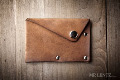 leather snap groomsmen wallets