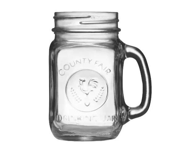 libbey county fair mason jar drinking glasses with handle - Mason Jar Drinking Glasses
