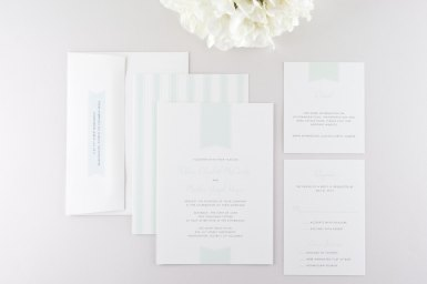 light mint wedding invitations