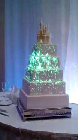 light up wedding cake