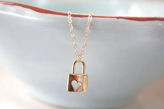 lock necklace by ava hope designs | via emmalinebride.com
