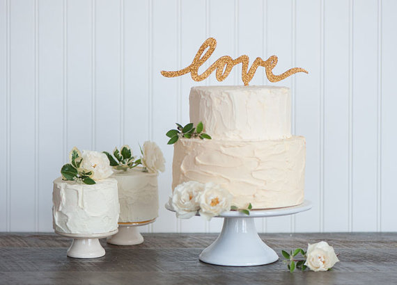 love | cake toppers in words