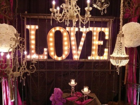 love wedding marquee lights