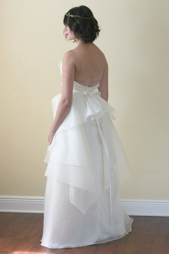 low back wedding dress by saint isabel