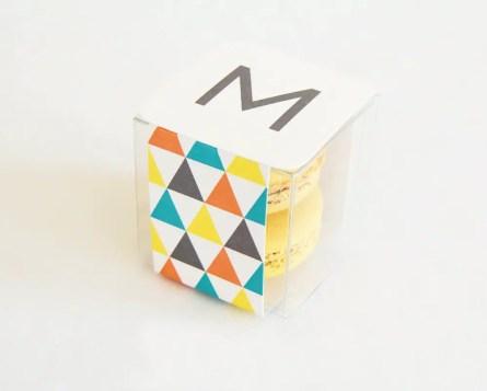 macaron in box geo print