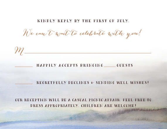 Coastal Wedding Invitations (by In Or Out Media)