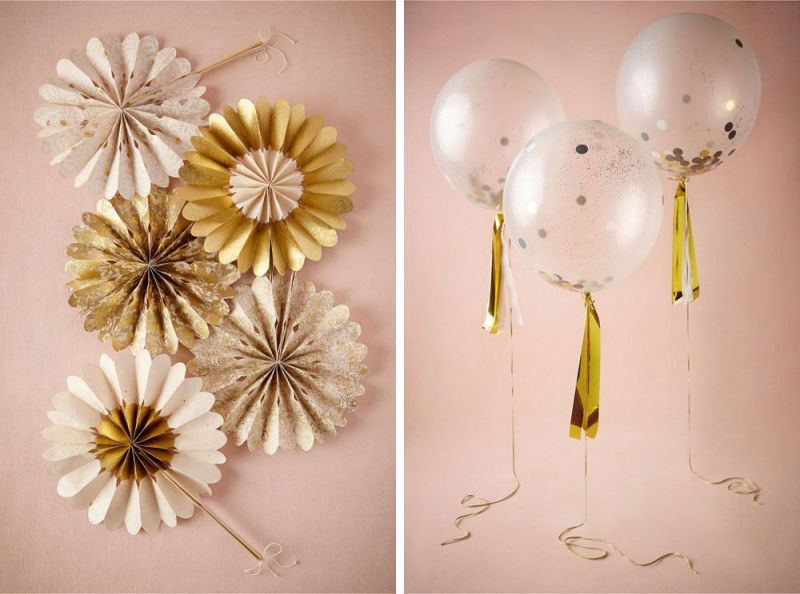 We love these confetti filled balloons! | via BHLDN Decor Ideas | http://emmalinebride.com/vintage/bhldn-decor-ideas-weddings/