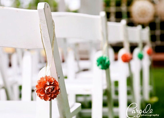 mini pomanders flower aisle decor