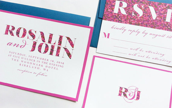 unique wedding invites | modern bold