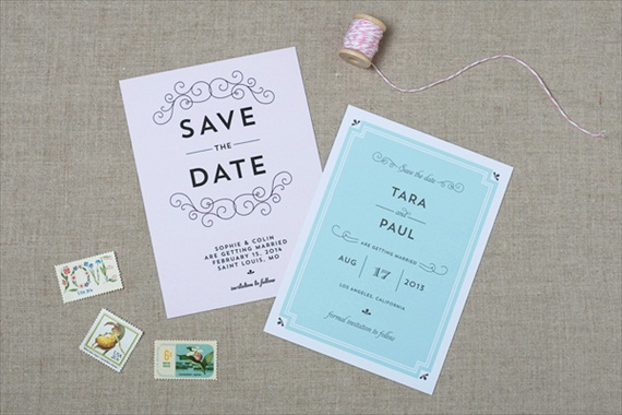 Spring Save the Dates (by Crafty Pie Press) - Deco Parisian Design